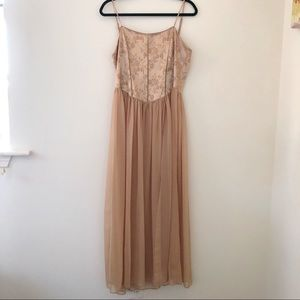 VS VINTAGE GOLD GOWN CORSET BACK
